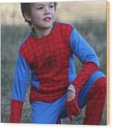 Well Done Spiderman Wood Print