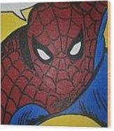 Spiderman Wood Print