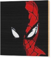 Spidey In The Shadows Wood Print