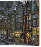 Spiegelgracht 8. Amsterdam Wood Print