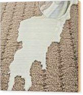 Spilled Milk On Carpet  Wood Print