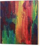 Spilling Rainbows Wood Print