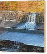 Spillway Waterfall Wood Print