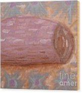 Spilt Vase Wood Print