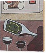 Essence Of Home - Spilt Wine Bottle Wood Print