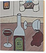 Essence Of Home - Spilt Wine Wood Print