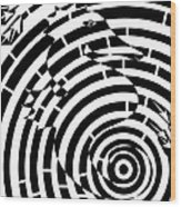 Spin Art Seahorse Maze  Wood Print