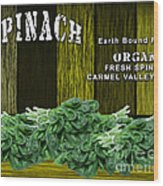 Spinach Patch Wood Print