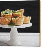 Spinach Pie Wood Print