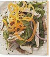 Spinach Salad Wood Print