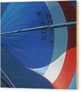 Spinnaker Flying Wood Print by Tony Reddington