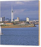 Spinnaker Tower And Gunwharf Quays Wood Print
