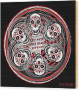 Spinning Celtic Skulls Wood Print