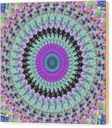 Spinning Colors Mandala Wood Print