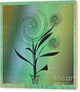 Spinning Plant Wood Print