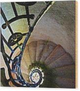 Spinning Stairway Wood Print