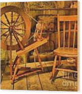 Spinning Wheel Wood Print