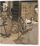 Spinning Wheel Wood Print