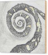 Spiral Wood Print by Angela Pelfrey
