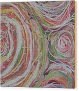 Spiral Bouquet Wood Print