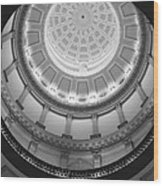 Spiral Dome Wood Print