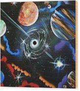 Spiral Galaxy Wood Print