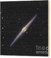 Spiral Galaxy Ngc 4565, Optical Image Wood Print