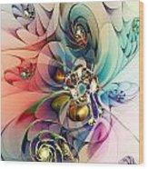 Spiral Mania 3 Wood Print
