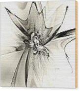 Spiral Mania 4 - Black And White Wood Print
