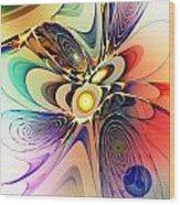 Spiral Mania Wood Print