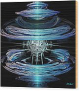 Spiral Movement Wood Print by Michael Durst