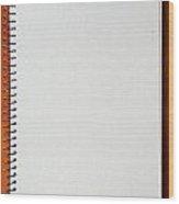 Spiral Notebook Wood Print