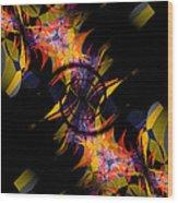 Spiral Of Burning Desires Wood Print
