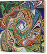 Spiral Splendor Wood Print