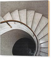 Spiral Stair - Denys Lasdun Wood Print by Peter Cassidy