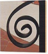 Spiral Stair Railing Wood Print