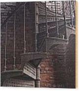 Spiral Staircase Depot Wood Print