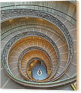 Spiral Staircase Vatican Wood Print