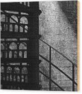 Spiral Stairs 1 - Mono Wood Print