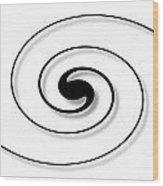 Spiral White Wood Print