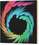 Spiralbow Wood Print