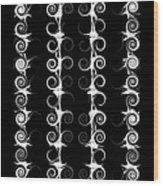 Spirals And Swirls Black And White Pattern  Wood Print