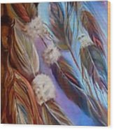 Spirit Feathers Wood Print