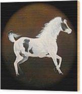 Spirit Horse Drum  Wood Print