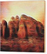 Spirit Mountain Wood Print