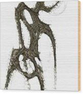 Spirit Of A Dancer 2 Wood Print by Khaya Bukula
