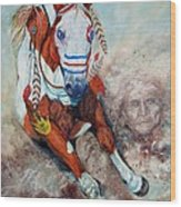 Spirit Of A War Pony  Wood Print