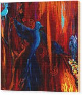 Spirit Of Peace Wood Print by Patricia Motley
