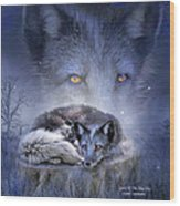 Spirit Of The Blue Fox Wood Print