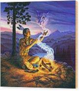 Spirit Of The Cougar Wood Print